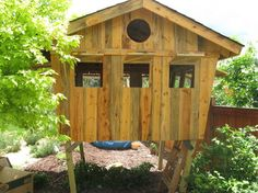 Tree Forts Playhouses | Kids' Tree House or Fort - eclectic - kids