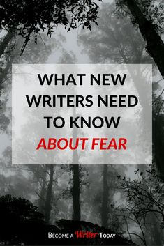 """""""What New Writers Need To Know About Fear"""" 