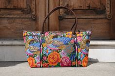 Huipil Tote Bag Beautiful Vibrant Guatemalan by Tienditaboutique