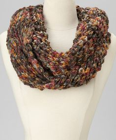 Take a look at this Dark Gray & Orange Infinity Scarf by Emanuel Geraldo on #zulily today! $11 !!