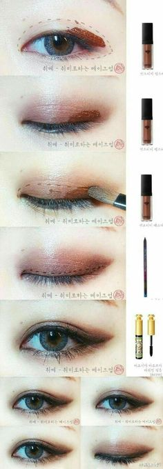 Eye Makeup Tips.Smokey Eye Makeup Tips - For a Catchy and Impressive Look Makeup Trends, Makeup Inspo, Makeup Inspiration, Makeup Ideas, Wedding Inspiration, Makeup Korean Style, Korean Eye Makeup, Korean Eyeshadow, Liquid Eyeshadow