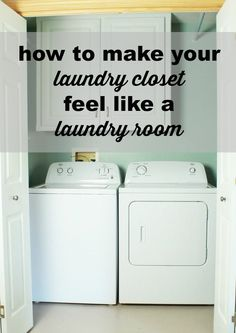 Hometalk   How to Make Your Laundry Closet Feel Like A Laundry Room- Maybe we could do this for the new house, save some room? :) I like the sliding barn doors too, that would really maximize space!