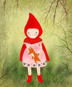 little red riding hood print.
