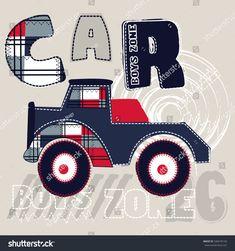 big car cartoon for boys, T-shirt design vector illustration Boys Summer Shirts, Boys T Shirts, Designer Baby, Kids Prints, Baby Prints, T Shirt Design Vector, Winter Baby Clothes, Baby Dress Patterns, Cartoon Boy