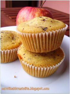 Carotina abbrustolita: Muffin con mela frullata e cioccolato