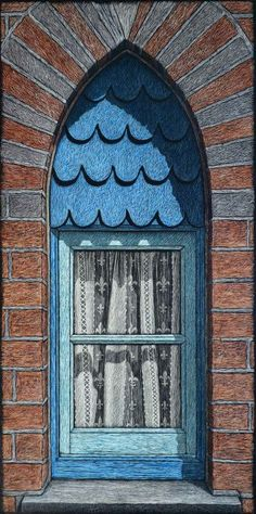 The Alms House window ,  engraving by Rachel Newling
