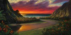 King Kamehameha, Family Is Everything, Tropical Beaches, House Landscape, House Painting, Original Artwork, Sculptures, Ocean, Wall Art