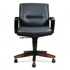 Office Star Office Chair - Pin it :-) Follow us  :-)) AzOfficechairs.com is your Office chair Gallery ;) CLICK IMAGE TWICE for Pricing and Info :) SEE A LARGER SELECTION of  officestar office chair at  http://azofficechairs.com/?s=office+star+office+chair -  office, office chair, home office chair -  HON 5002NSS11 5000 Series Park Avenue Managerial Mid-Back Chair, Mahogany/Black Leather « AZofficechairs.com