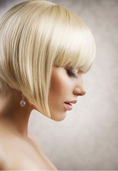 Angled inverted short bob hairstyles for fine hair - Cool & Trendy Short Hairstyles 2017