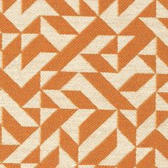 """Eclat Weave"" in Tangerine, designed by Bauhaus educated Anni Albers in 1974 for Knoll."