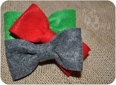Felt Hair Bows. Super easy to make and cost almost next to nothing! Great gift!