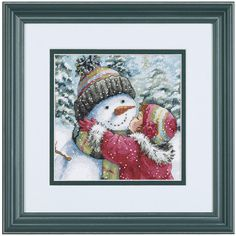 A Kiss for Snowman - Cross Stitch, Needlepoint, Stitchery, and Embroidery Kits, Projects, and Needlecraft Tools | Stitchery