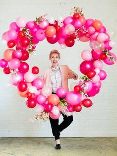 Decoración con globo para 14 de febrero (15)