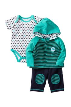 Cars Bodysuit, Jacket & Pant Set (Baby Boys) by Vitamins Baby on @nordstrom_rack