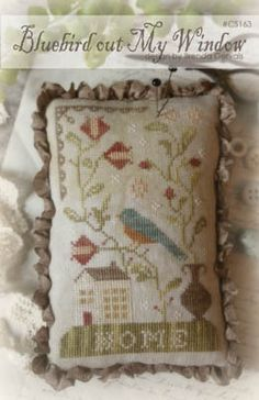 Bluebird Out My Window - Cross Stitch Pattern