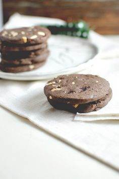 These dark chocolate refrigerator cookies are made with an easy, classic dough that can be customized in any number of ways! Cherries amd cashews