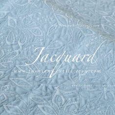 Items similar to Light Blue Jacquard Floral Fabric sold by meter on Etsy Floral Fabric, Blue Fabric, Blue Fashion, Chalkboard Quotes, Art Quotes, Light Blue, Yard, Sky, Design
