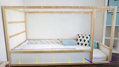 Ikea Kura Bett Kinderbett Inspiration - New Ideas Girl Nursery Bedding, Baby Girl Nursery Decor, Baby Room Decor, Kura Bed Hack, Ikea Kura Hack, Ikea Hacks, Cama Montessori Ikea, Kura Cama Ikea, Baby Zimmer Ikea