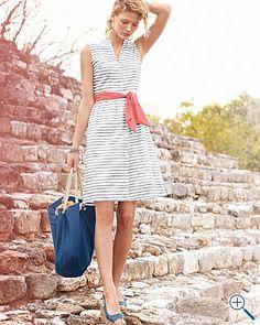 Shirtdress from Garnet Hill (via Eclectic Whatnot) #GarnetHill #dress #shirtdress