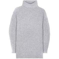 Acne Studios Isa Wool Sweater Dress (€450) ❤ liked on Polyvore featuring dresses, sweaters, tops, grey, vestidos and acne studios