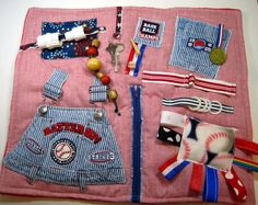 Baseball Lovers Fidget, Sensory, Activity Quilt Blanket by TotallySewn on Etsy
