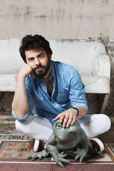 Fawad Khan's New Photoshoot Will Make You Forget Your Midweek Blues Bollywood Photos, Bollywood Actors, Bollywood Fashion, Fawad Khan Beard, Top Celebrities, Celebs, Mahira Khan, Photography Poses For Men, Portrait Photography