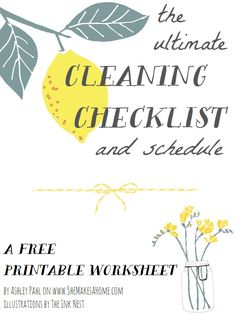 * She Makes a Home *: The Ultimate Cleaning Checklist & Schedule: Free Printable (UPDATED)