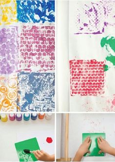 Printmaking is an easy art project you can do with kids that results in beautiful textures and colored patterns. It's quick to set up with paint and crayons for hours of open-ended, creative fun you can do together!