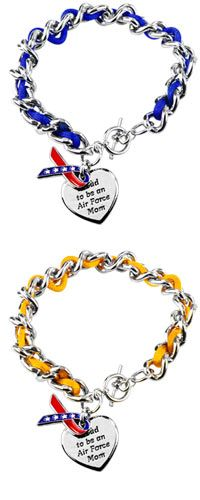 Proud to be an Air Force Mom Ribbon Charm Bracelet at The Animal Rescue Site - $16.95
