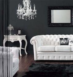Modern Baroque White Living Room by vashnaki