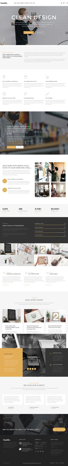 Franklin is creative, fully responsive and powerful WordPress #Theme for business, creative #agency or personal portfolio, photography or a blogging #website. Download Now!