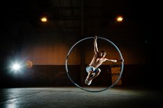 "Ali is one of the top Cyr Wheel artists. Mixing creativity and physicality, he delivers a beautiful and captivating performance on a simple 2 metre high metal wheel.    His unique 4 minute show, which is set to a version of Lykke Li's ""I Follow Rivers"" fascinates audiences with its tight choreography, acrobatics and dynamic spins.    Ali Temple has performed worldwide as a dancer, acrobat and circus artist. As well as performing as a soloist for London-based contemporary circus company Squa"