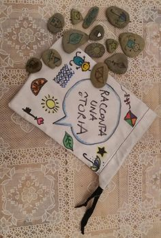 Giochi per i bimbi fai da te / raccontaci una storia / pebbles art