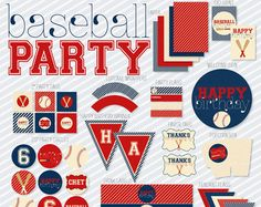 vintage baseball party supplies - Google Search