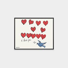 Warhol: I Love You So Framed Print
