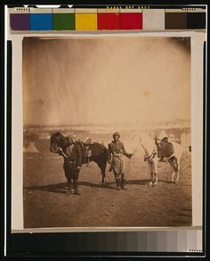 Nubian servants & horses,1855,Crimean War,Crimea,Ukraine,Roger Fenton,photograph