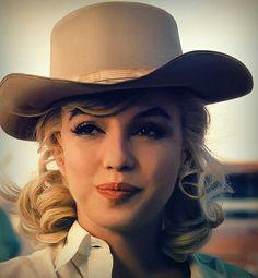 Marilyn Monroe en el set de The Mistfits (1961)