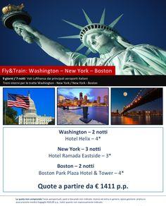 JLAND TRAVEL: TOUR WASHINGTON - NEW YORK - BOSTON VOLO + TRENO D...