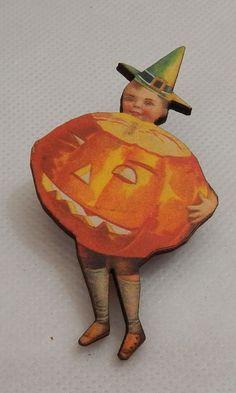 Vintage Style Boy & Pumpkin Halloween Brooch or Scarf Pin Wood Multi-Color…http://www.ebay.com/itm/Vintage-Style-Boy-Pumpkin-Halloween-Brooch-or-Scarf-Pin-Wood-Multi-Color-NEW-/152275925982?ssPageName=STRK:MESE:IT