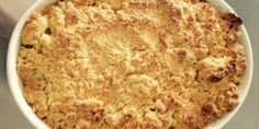 Rabarberkage med smuldredej