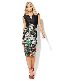 NY&C: 7th Avenue Design Studio Floral Sheath Dress