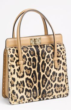Valentino 'Rockstud Framed' Calf Hair Handbag available at #Nordstrom