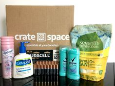 Crate Space is an easy way to save on personal and household essentials, without clipping coupons and tracking down sales! #CrateSpace #savingmoney #household #essentials #smartshopper #deliveryservice #homedelivery