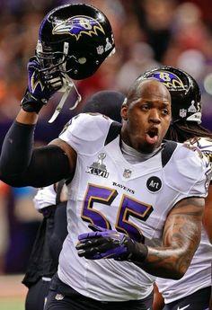 Baltimore Ravens linebacker Terrell Suggs NFL Super Bowl XLVII