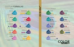 Joico Vero K-Pak Color Intensity Calypso Colors & Celestial Mystique Shade Chart.
