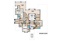 Mediterranean Style House Plan - 6 Beds 6 Baths 20075 Sq/Ft Plan #27-538 Floor Plan - Other Floor Plan - Houseplans.com