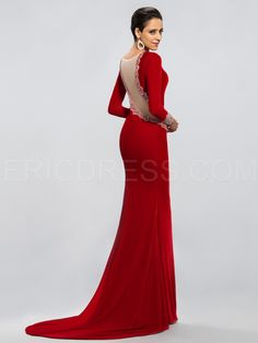 Elegant Long Sleeves Trumpet/Mermaid Evening/Prom Dress 3
