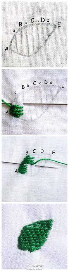 Embroidery Stitches Embroidery Stitches - This instructable will teach you the very basics of hand embroidery. Learning to embroider is not as tough as you might think! With a bit of practice, you'll get . Hand Embroidery Stitches, Crewel Embroidery, Embroidery Techniques, Embroidery Applique, Cross Stitch Embroidery, Embroidery Patterns, Simple Embroidery, Sewing Stitches, Machine Embroidery