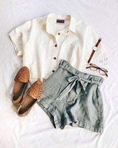 Cute outfits for teens summer fashion outfits 2019 vintage summer outfits, casual summer clothes, Boho Outfits, Fashion Outfits, Woman Outfits, Fashion Ideas, Fashion Trends, Boho Shorts Outfit, Cute Shorts Outfits, Fashion Clothes, Fashion Images