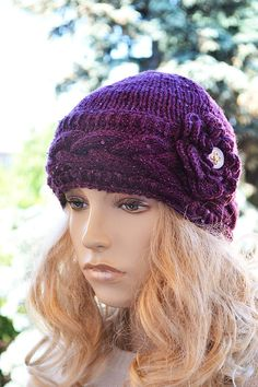 Knitted cap / hat lovely warm autumn accessories women clothing Knit Hat Womens lovely